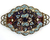 French Antique Trinket Dish/ Antique Champleve Trinket Dish/ Chapleve Vide Poche/French Cloisonne