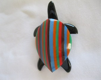 French Designed Resin Tuyrtle Pin By Marion Godart
