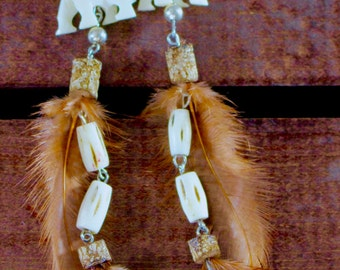 Feather Earrings, One of a Kind, #17