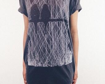 Birds In Row t-shirt. Women's T Shirt Birds tshirt women's graphic tee Organic cotton Womens tee Shirt Birds print birds t-shirt birds tee