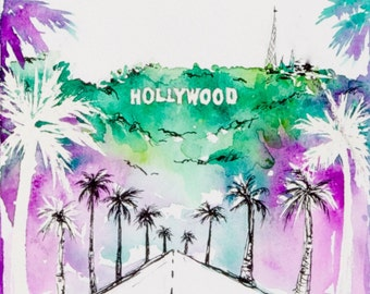Hollywood heights watercolour
