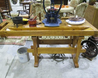 Antique Worker's Table, Hieber Circa 1876