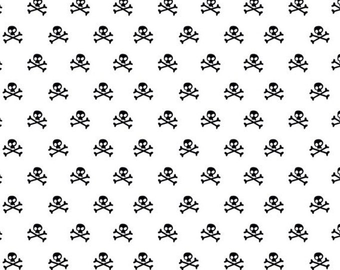 Half Yard Military Max - Military Skulls in White - Cotton Quilt Fabric - by Bella Blvd. for Riley Blake Designs - C4373-WHITE (W3263)