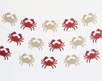 Crab Party Banner - Customizable Colors