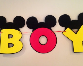 boy mickey mouse baby shower banner mickey mouse banner baby shower
