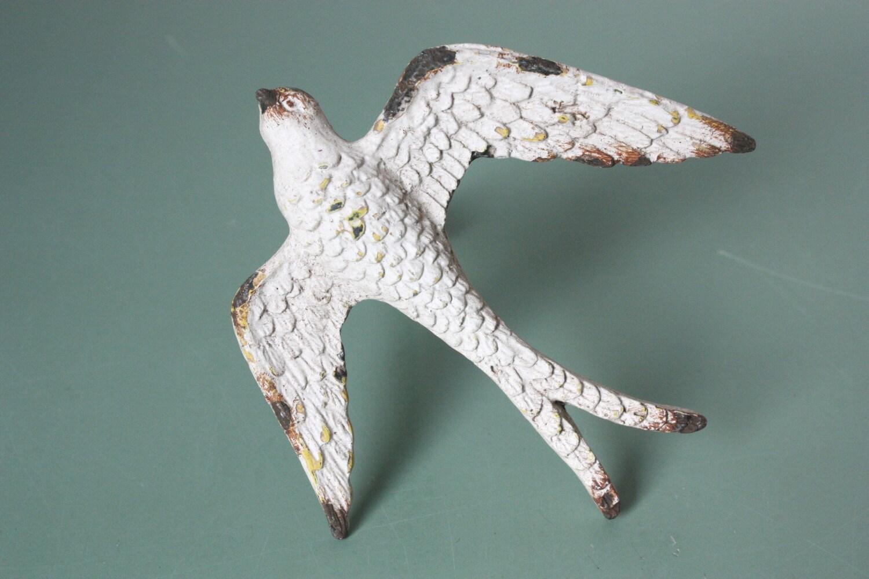 4 Door Knobs Swallow Bird Shabby Drawer Pulls Rustic
