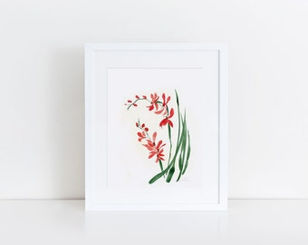 orchid 2- watercolour art print