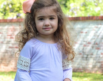 Toddler's Crochet Sleeve Tunic