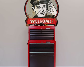 Gas Station Welcome Customers Wall Decal - #48689