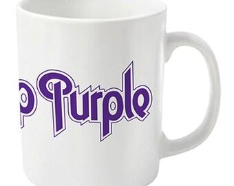 Deep Purple - Logo (White)  - Coffee Mug - Free Shipping