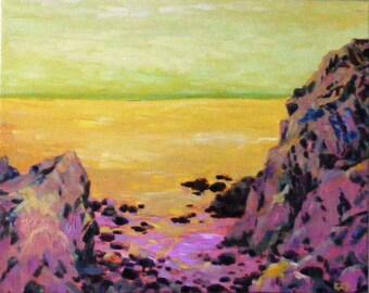 Ocean dreaming, 16 x 20 in. original oil painting