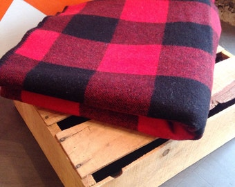 Wool Buffalo Plaid Blanket
