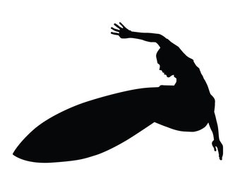 Surfer Sticker.  Customize this Surfer Decal with a Name or Saying.  Surf sticker, Surfer decal