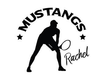 Tennis Sticker.  Customized Tennis Player Decal.  Personalized Tennis Sticker.  Youth Tennis Player Sticker.  Womens Tennis Player Decal.