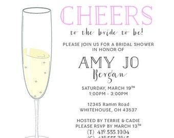 Champagne Bridal Shower Invitation