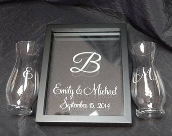 Sand Unity Frame Set w/Photoinsert, etched