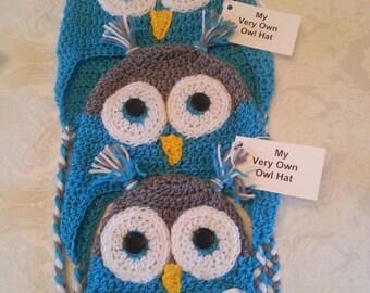 Turquoise Owl Hat