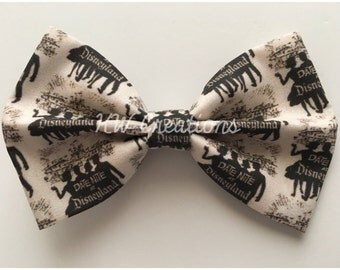 Vintage-Inspired Date Nignt At Disneyland Handmade Fabric Hair Bow