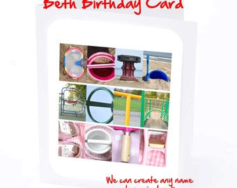 Beth Personalised Birthday Card