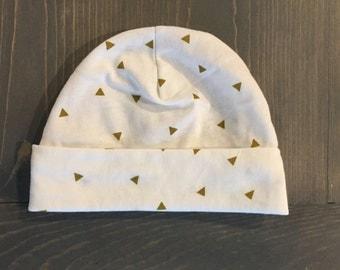 Cream newborn beanie