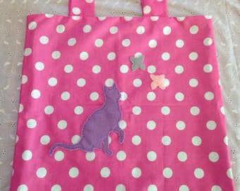 Butterflies and Cat Tote Bag