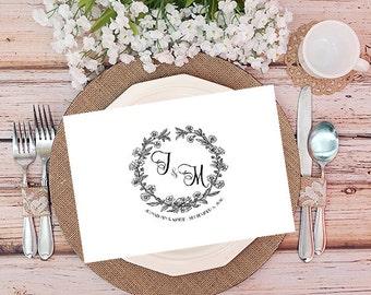 Wedding monogram, printable wedding logo, premade wedding logo, premade wedding monogram, vintage wedding logo, digital wedding logo