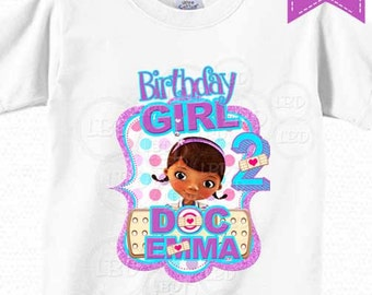 Doc Mcstuffins Birthday Shirt image, Doc Mcstuffins Iron On Printable, DIY - Birthday Girl - YOU PRINT - Style 2015-9
