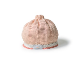 Tranquility Baby Hat: Peach