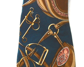 Silk  tie for the horse lover by Gianfranco