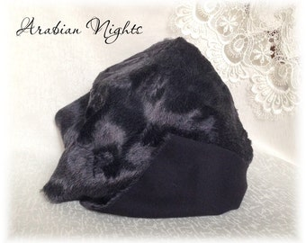 Italian Viscose Plush Fabric Fur Metallic Collection Arabian Nights dark blue Colour 6 mm pile 1/8 m teddy bear making supplies