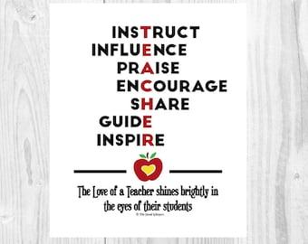 teacher valentine – Etsy