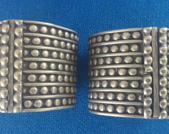 A Pair of Old Ethiopian Cuff Ethnic Bracelets
