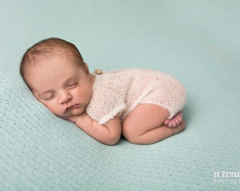 Ivory Mohair Romper, Photo Prop, Mohair Photo Prop, Mohair Romper, Newborn Photo Prop, Ivory Romper