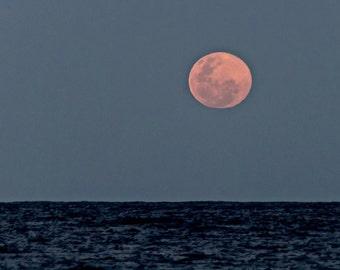 Moon Photography, Beach Nights, Abstract photography, Beach Evening Photos, Beach Night Photography, Full moon image, Blue Moon Rising