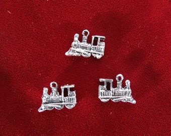 """BULK! 30pc """"train"""" charms in antique silver style (BC428B)"""
