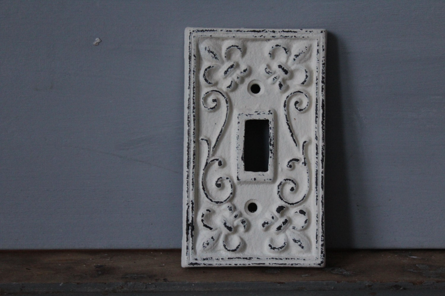 Switch Plate Painted Wrought Iron Switch Plate Farmhouse