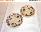On Sale 2 Demitasse Saucers,Old Ivory, Syracuse China, Made in America, O.P.CO., Vintage Porcelain, Collectible China, Old Ivory China, Flor