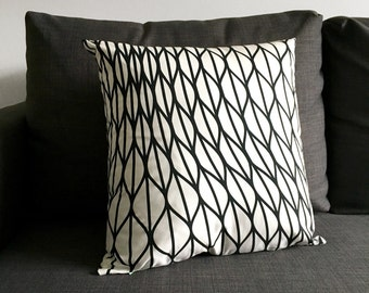 Black and White Mid Century Pillow Cover 18x18