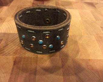 Riveted upcycled cuff bracelet