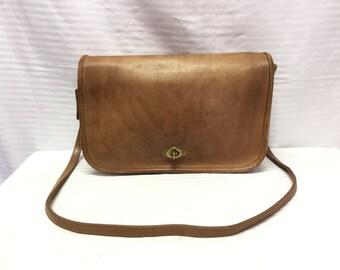 Free Ship, Coach, USA, Saddle Bag, Brown, Leather, Shoulder Bag, Purse, New York City