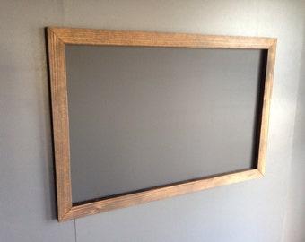 """20"""" x 30""""  Rustic Framed Chalkboard, Rustic Wedding Chalkboard, Kitchen Menu, Menu Board, Rustic Frame"""