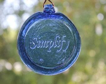 Blue Simplify Suncatcher