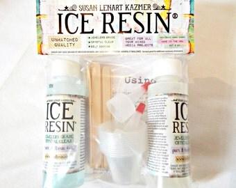 8oz Ice Resin, Resin Doming Kit, Jewelers Grade Resin, Self Hardening, Clear Resin, Stirring Sticks, Measuring Cups, Resin Kit, UK Seller