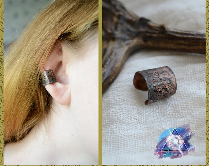 Small copper Ear cuff | casual ear cuff, copper jewelry, unisex ear cuff