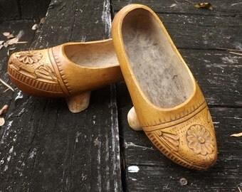 Vintage Asian Wooden Shoes