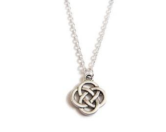 Silver Celtic Knot Necklace Choker/Irish jewelry/Scottish jewelry/Pagan/Outlander/Charmed/St.Patrick'sDay