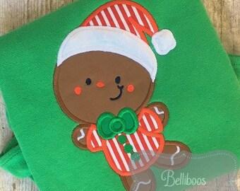 Christmas Applique - Christmas Embroidery - Gingerbread Applique - Gingerbread Embroidery - Holiday Applique - Holiday Embroidery