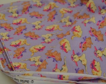 Light purple pets cloth: kittens and puppies [cats & dogs] fabric/cloth/material
