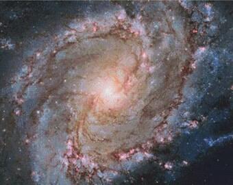 Southern Pinwheel Galaxy PDF Cross Stitch Pattern