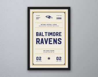 "Baltimore Ravens ""Day & Night"" Print"